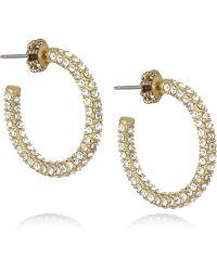 Juicy Couture - Goldplated Cubic Zirconia Hoop Earrings - Lyst