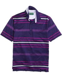 Brooks Brothers St Andrews Links Engineered Striped Polo - Lyst