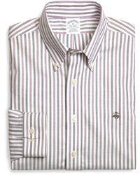 Brooks Brothers Supima Cotton Noniron Slim Fit Alternating Stripe Sport Shirt - Lyst