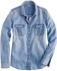 J.Crew Petite Keeper Chambray Shirt - Lyst