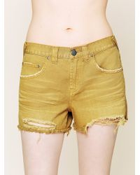Free People  Denim Cut Off Shorts - Lyst