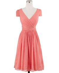 J.Crew Petite Mirabelle Dress In Silk Chiffon - Lyst