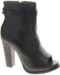 Kg Kurt Geiger Kg By Kurt Geiger Sofie Leather Peep Toe Heeled Ankle Boots - Lyst