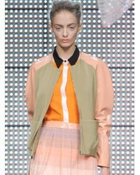 Antipodium - Sage Green Automate Bomber Jacket By - Lyst