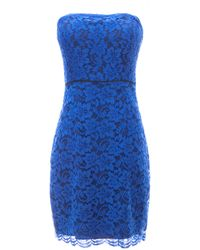 Diane von Furstenberg Walker Lace Mini Dress - Lyst