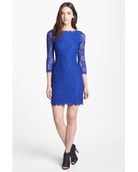 Diane von Furstenberg Zarita Lace Sheath Dress - Lyst