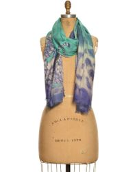 Emma J Shipley - Luxe Turquoise Jaguar Oversized Scarf By - Lyst