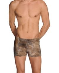 Gucci Swimming Trunks brown - Lyst