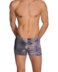 Gucci Purple Swimming Trunks - Lyst