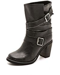 Jeffrey Campbell France Wrap Strap Boots - Brown - Lyst