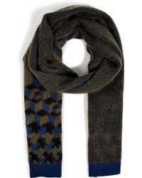 Jil Sander Cashmere-Mohair Scarf In Jungle Jacquard - Lyst