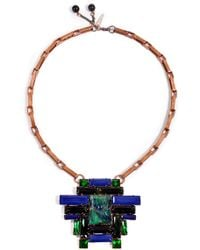 Moutoncollet - Juliet Necklace in Emerald - Lyst