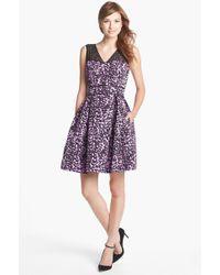 Taylor Dresses Print Fit Flare Dress - Lyst