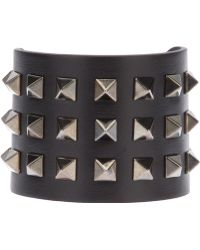 Valentino Rockstud Leather Cuff - Lyst