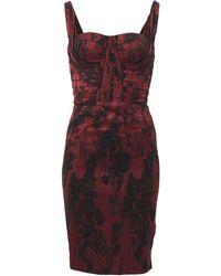 Zac Posen Sleeveless Drape Print Cocktail Dress - Lyst