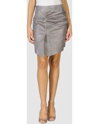 Catherine Malandrino Leather Skirt - Lyst