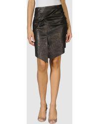 Catherine Malandrino Leather Skirt - Lyst