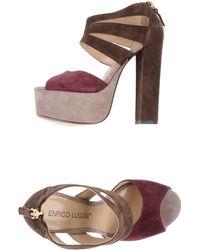 Enrico Lugani Platform Sandals - Lyst