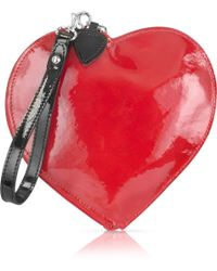 Fontanelli Patent Leather Heart Coin Purse - Lyst