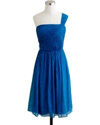 J.Crew - Petite Lucienne Oneshoulder Dress in Silk Chiffon - Lyst