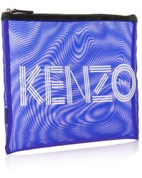 Kenzo Logo Mesh Clutch - Lyst