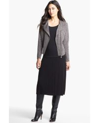 Nic + Zoe Pleated Knit Skirt black - Lyst