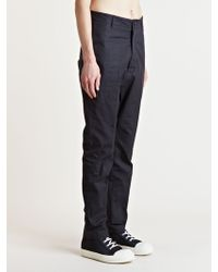 Rick Owens Mens Dropped Astaires Pants - Lyst