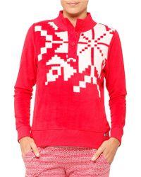 DKNY - Snowflake Longsleeve Fleece - Lyst