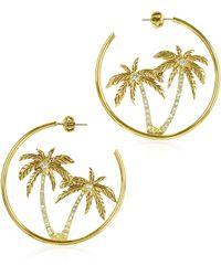 Juicy Couture - Palm Tree Hoop Earrings - Lyst