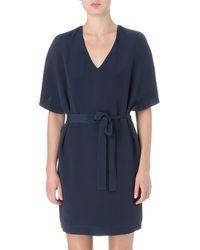 Maiyet Vneck Silk Dress - Lyst