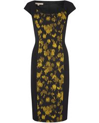 Michael Kors Leaf Print Sheath Dress - Lyst