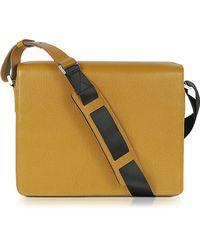 Porsche Design Mustard Yellow Leather Messenger Bag