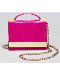 B Brian Atwood - Crossbody Ava Snake Top Handle - Lyst