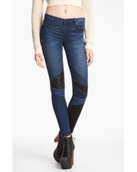 Blank Spray On Super Skinny Jeans - Lyst