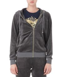 Juicy Couture Relaxed Velour Hoody Top Hat - Lyst