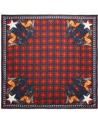 Givenchy Checkered Doberman Scarf - Lyst