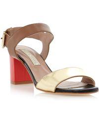 Pied a Terre | Jeni Block Heel Sandals | Lyst