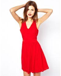 A Wear   Pleated Wrap Dress   Lyst