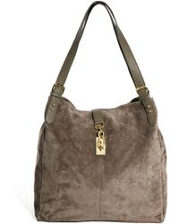 Little Mistress - Asos Leather Hobo Bag with Clip Lock - Lyst