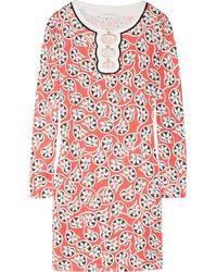 Diane von Furstenberg Odetta Printed Silkjersey Mini Dress - Lyst