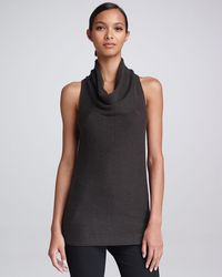 Donna Karan New York Sleeveless Cowlneck Top Flint - Lyst