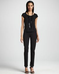 Eileen Fisher Slim Ponte Pants - Lyst