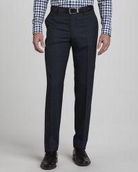 Etro Blue Plaid Pants - Lyst