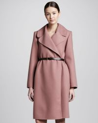 Marc Jacobs Doubleface Cashmere Coat Rose - Lyst