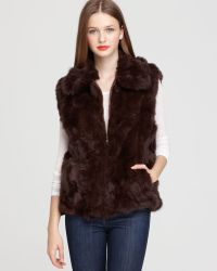 Surell Long Hair Rabbit Vest - Lyst