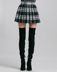 Alice + Olivia Alice Olivia Fizer Boxpleated Plaid Skirt - Lyst