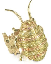 Bernard Delettrez - Gold With Sapphires Cockroach Ring - Lyst