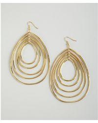CC SKYE - Gold Disco Hoop Tiered Wire Drop Earrings - Lyst