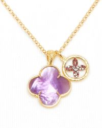 Coralia Leets - Purple Doublet Lucky Charm Necklace 17 - Lyst