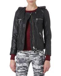 Etoile Isabel Marant Kady Leather Biker Jacket - Lyst